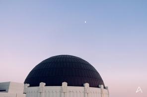 Le Griffith Observatory au coucher du soleil