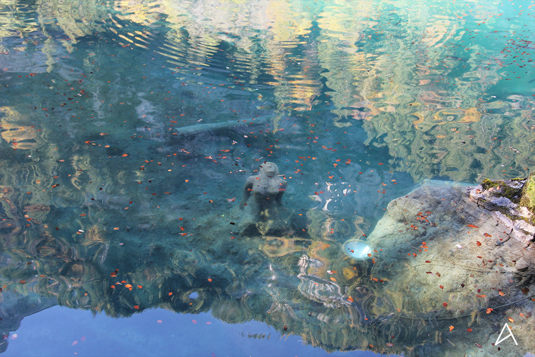 Blausee_statue