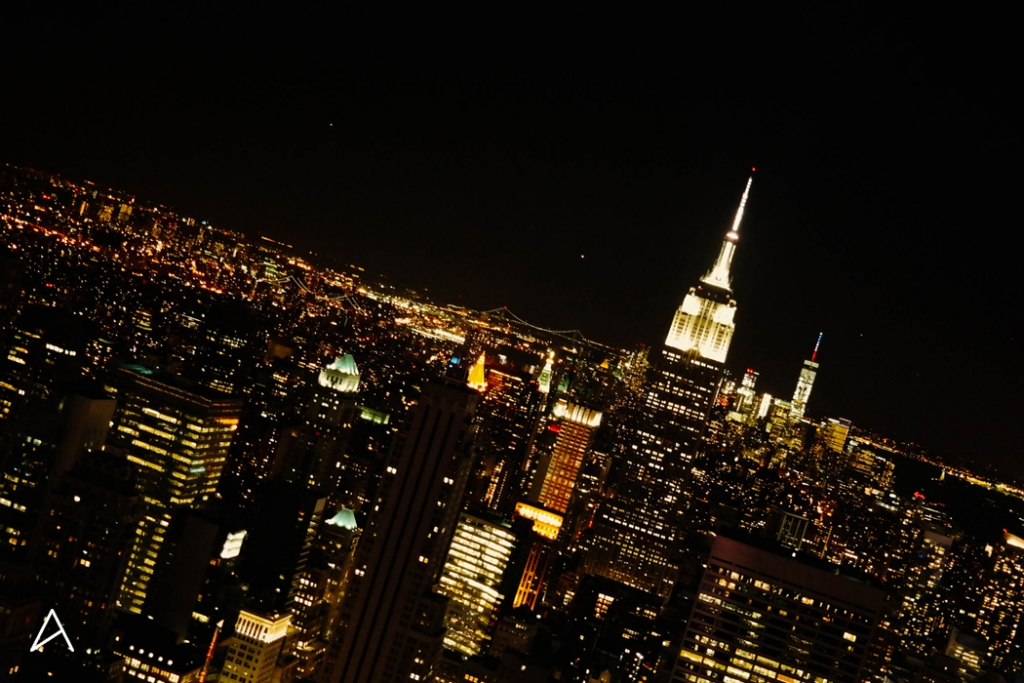 Rockefeller center & son TOP OF THE ROCK. Panorama sur New York de nuit !