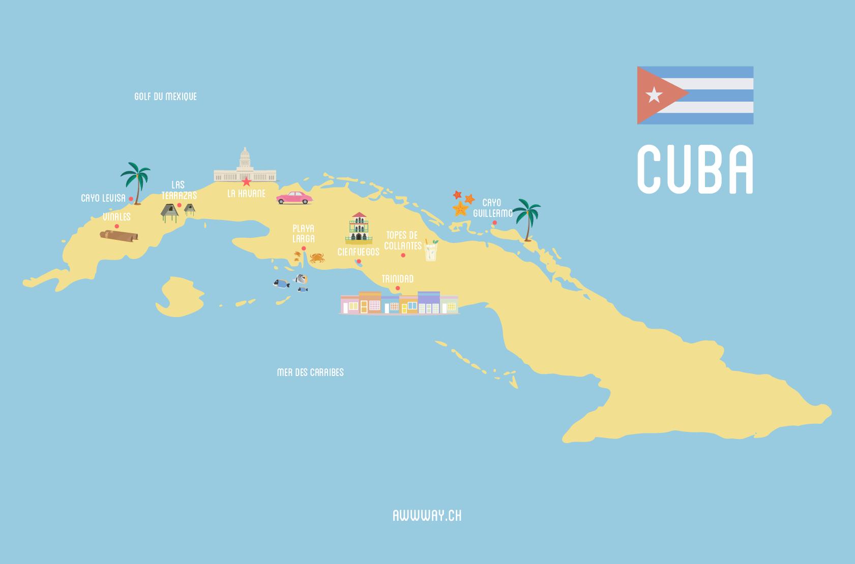 Carte Cuba Cayo Levisa.Mon Itineraire Et Budget Pour Trois Semaines A Cuba Awwway