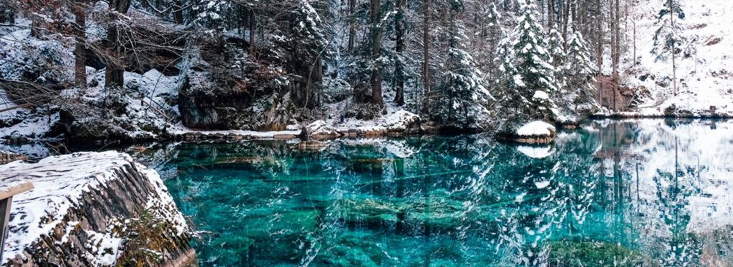 Le Blausee en hiver