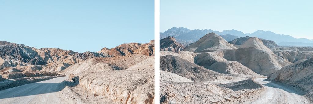 Le paysage lunaire de Twenty Mule Team Canyon