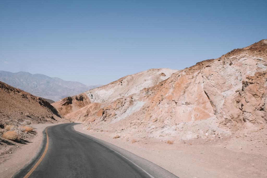 La route d'Artist's Drive