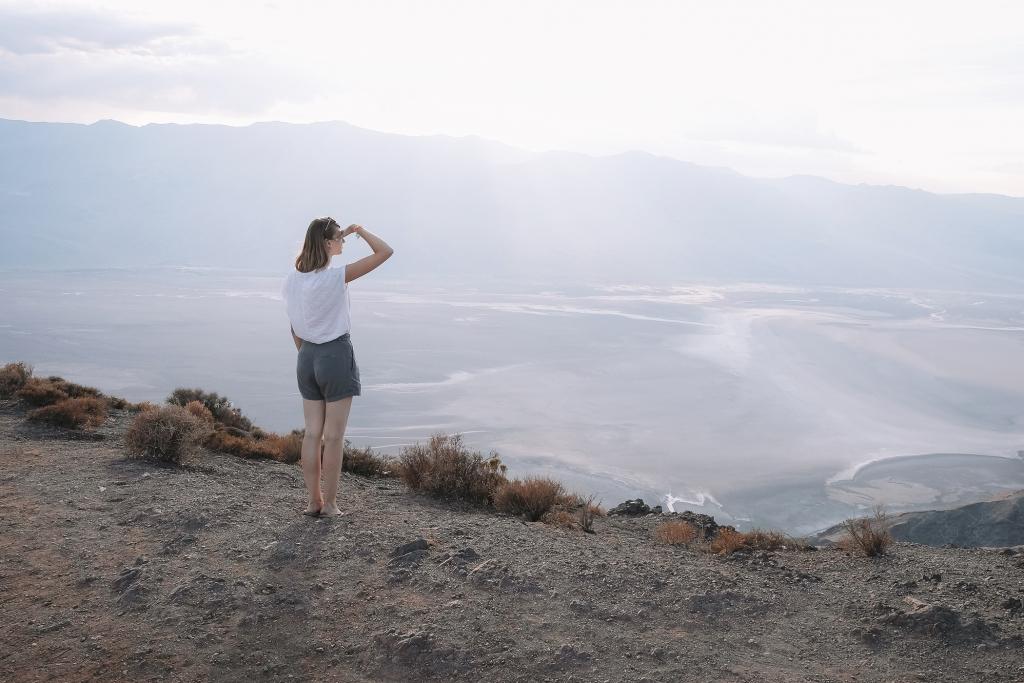 La vue sur Badwater Bassin depuis Dante's View