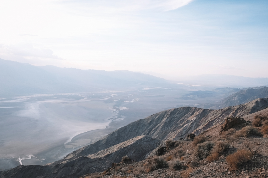 Badwater Bassin en contrebas de Dante's View