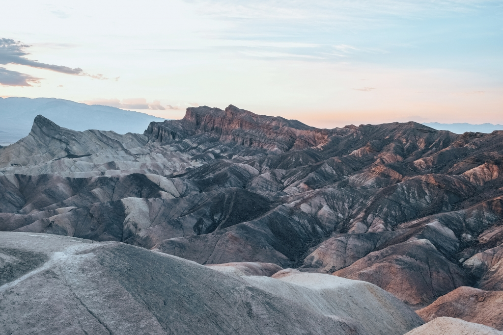 Zabriskie Point au coucher du soleil