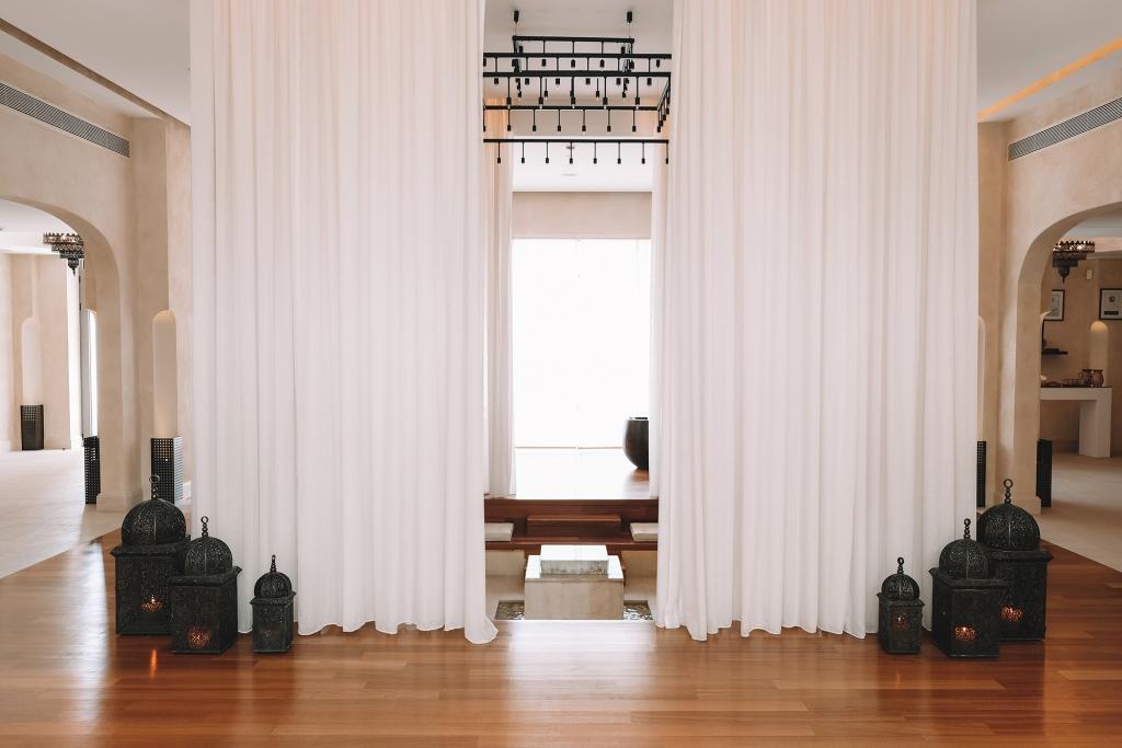 La décoration de l'Anazoe Spa est très zen.